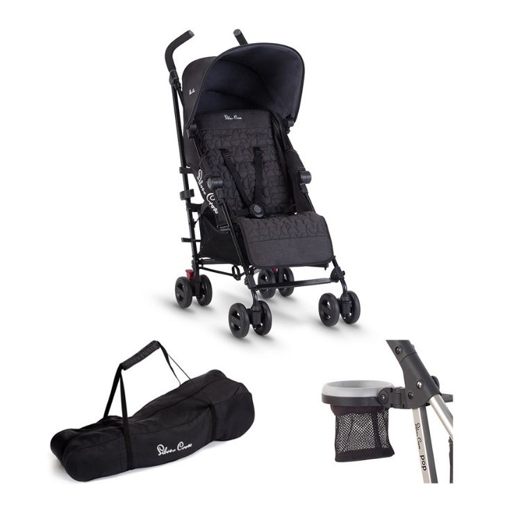 Zest Stroller + Cup Holder + Travel Bag