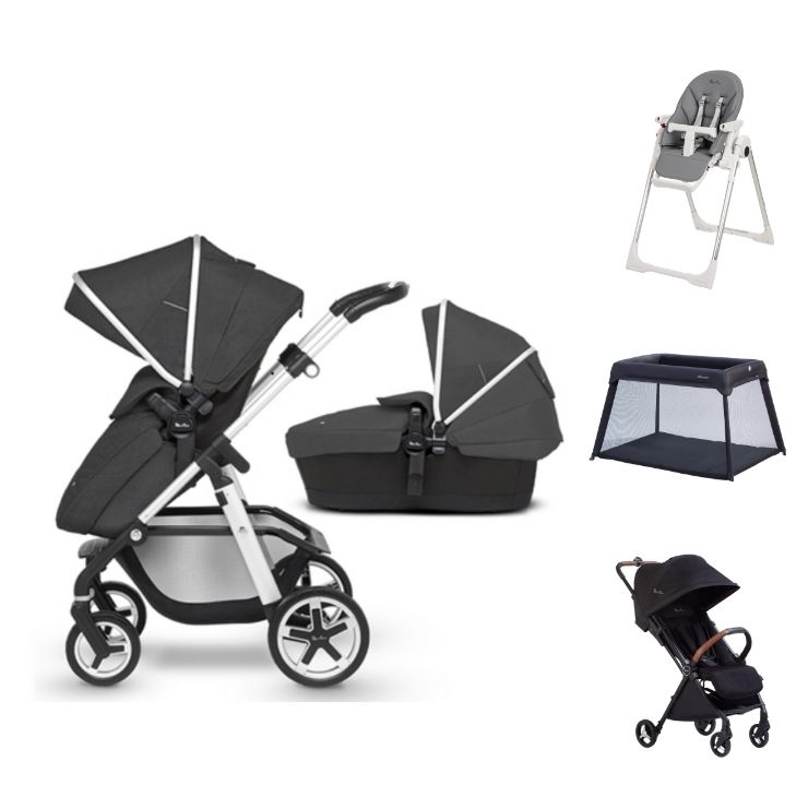 Pioneer Onyx + High chair + Travel Cot Lite + Jet Black
