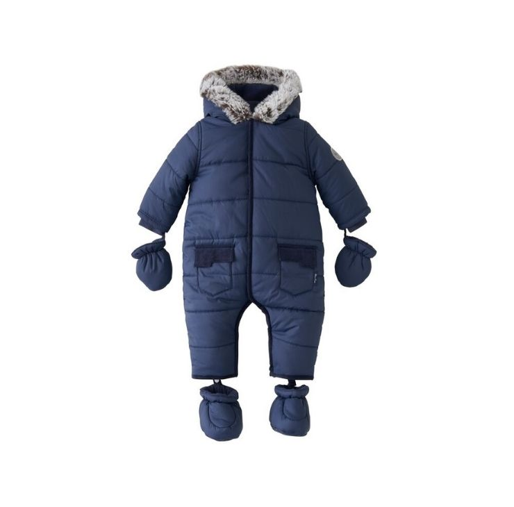 Navy Quilted Pramsuit 12-18 Months