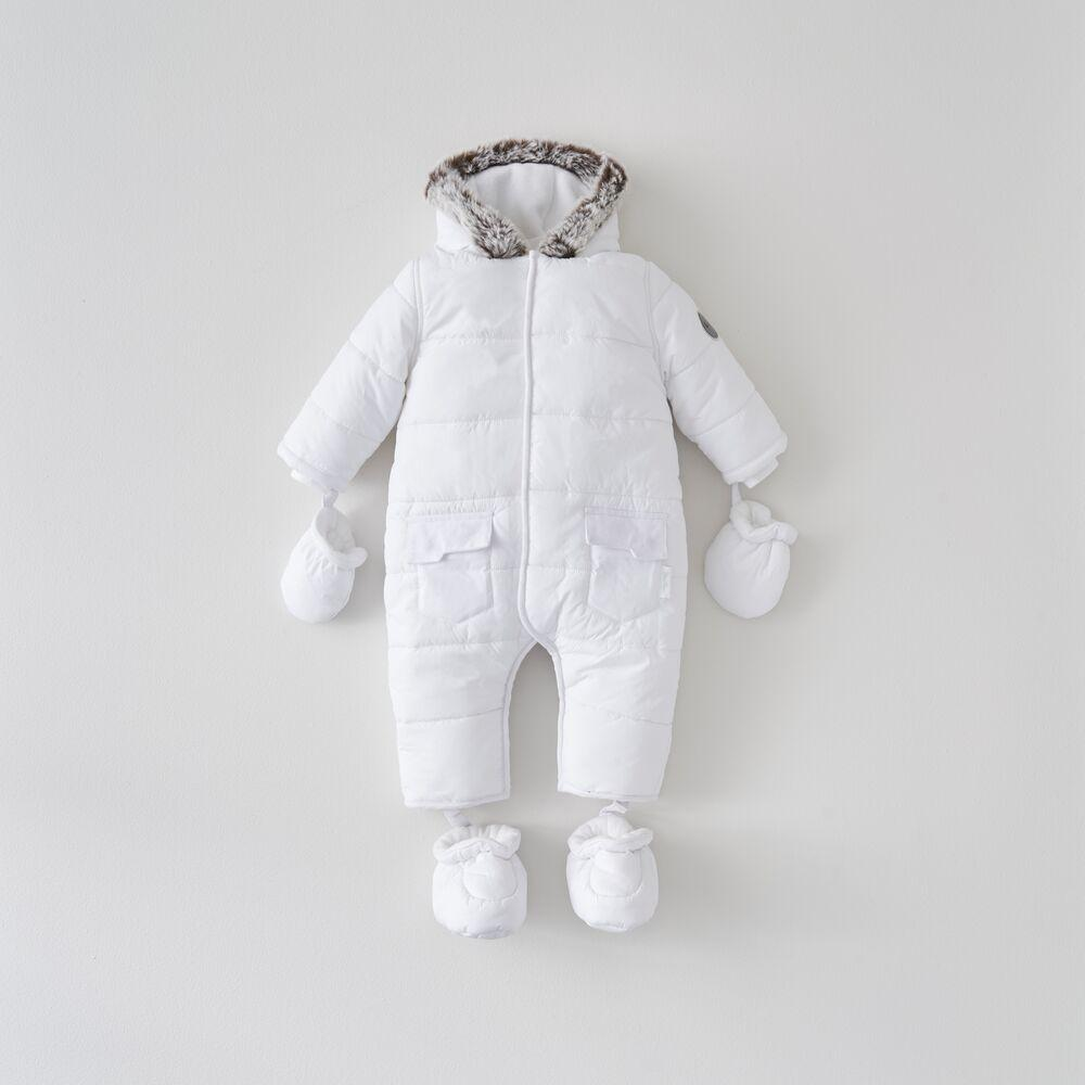 White Quilted Pramsuit 12-18 Months
