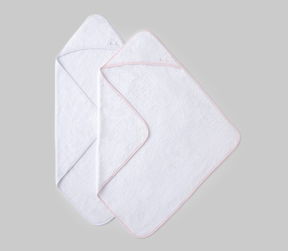 Hooded Towels - Pink/White